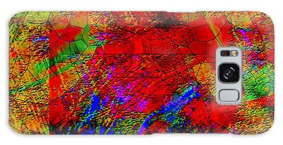 Galaxy Case featuring the digital art Thinking by Visual Artist Frank Bonilla
