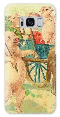 To Market To Market To Buy A Fat Pig 86 - Painting Galaxy Case by Ericamaxine Price