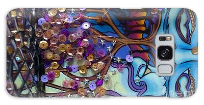 Tree And Face Of Beauty Galaxy Case