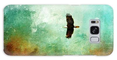 Treetop Eagle Flight Galaxy Case