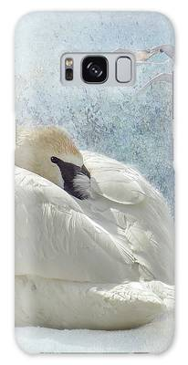 Trumpeter Textures #1 - Swan Feather Galaxy Case by Patti Deters