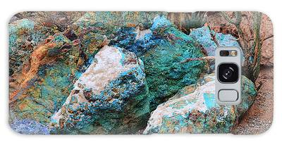 Turquoise Rocks Galaxy Case