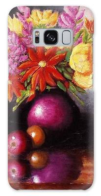 Vase With Flowers Galaxy Case