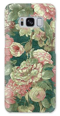 Galaxy Case featuring the mixed media Victorian Garden by Susan Maxwell Schmidt