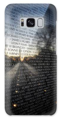 Galaxy Case featuring the photograph Vietnam Memorial by Ryan Wyckoff