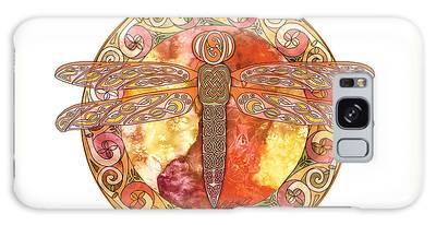 Warm Celtic Dragonfly Galaxy Case