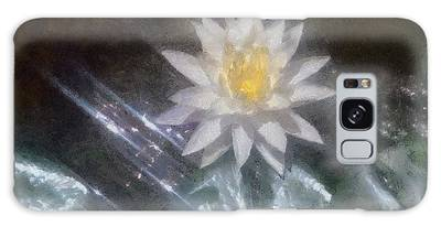 Water Lily In Sunlight Galaxy Case