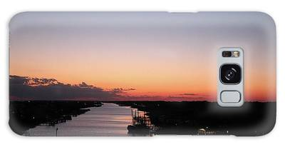 Galaxy Case featuring the photograph Waterway Sunset #1 by Cynthia Guinn