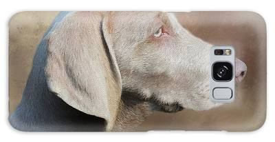 Galaxy Case featuring the painting Weimaraner Adult - Painting by Ericamaxine Price