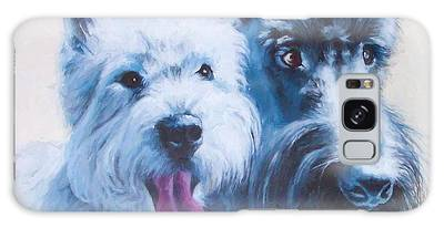 Westie And Scotty Dogs Galaxy Case