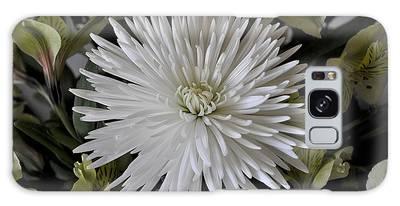 White Chrysanthemum Galaxy Case