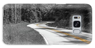 Winding Country Road In Selective Color Galaxy Case