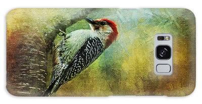 Woodpecker On Cherry Tree Galaxy Case