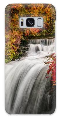 Galaxy Case featuring the photograph Fall At Minnehaha Falls by Patti Deters