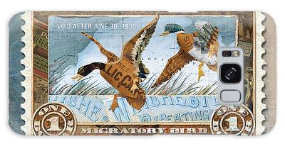 1934 Hunting Stamp Collage Galaxy Case