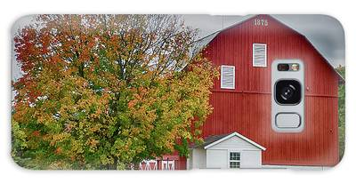 Autumn Red Barn Galaxy Case