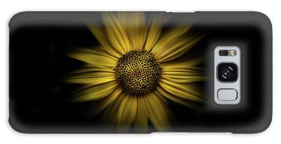 Galaxy Case featuring the photograph Backyard Flowers 18 Color Flow Version by Brian Carson