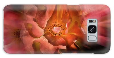 Galaxy Case featuring the photograph Backyard Flowers 40 Color Flow Version by Brian Carson