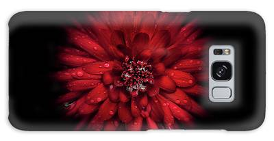 Galaxy Case featuring the photograph Backyard Flowers 45 Color Flow Version by Brian Carson