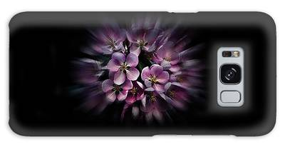 Galaxy Case featuring the photograph Backyard Flowers 47 Color Flow Version by Brian Carson