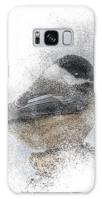 Black-capped Chickadee Perch Galaxy Case by Patti Deters