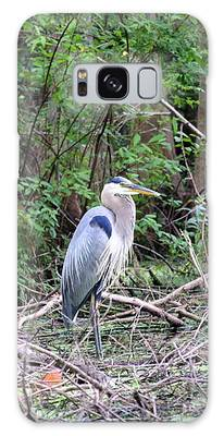 Blue Heron At The Lake Galaxy Case by Cynthia Guinn