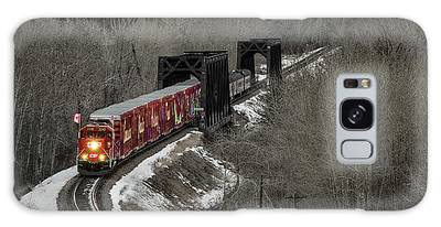 Galaxy Case featuring the photograph Canadian Pacific Holiday Train 2018 I by Brad Allen Fine Art