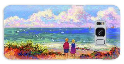 Maine Coast Paintings Galaxy Cases