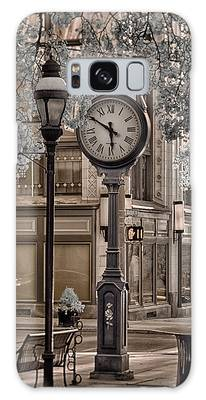 Clock On Street Galaxy Case
