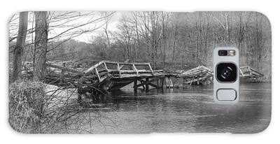 Collapsed Bridge At Waterloo Village Galaxy Case
