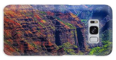 Colorful Mountains Of Kauai Galaxy Case