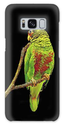 Colorful Parrot Galaxy Case