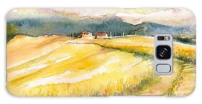 Yellow Landscape Digital Art Galaxy Cases