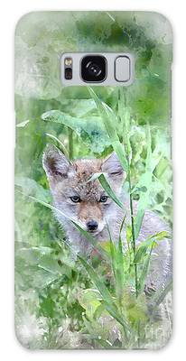 Galaxy Case featuring the photograph Coyote Pup by Brad Allen Fine Art