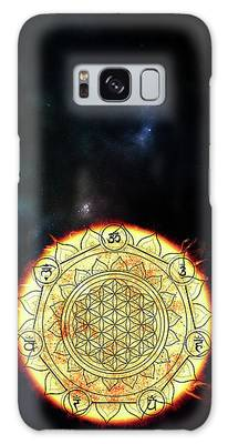 Galaxy Case featuring the digital art Creative Force by Bee-Bee Deigner