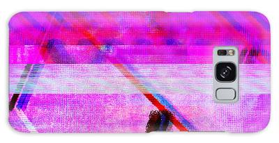 Galaxy Case featuring the digital art Databending #1 by Bee-Bee Deigner