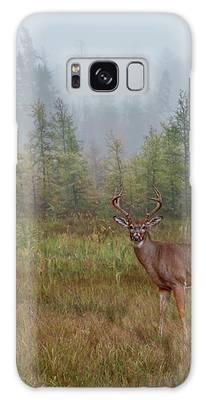 Deer Mist Fog Landscape Galaxy Case by Patti Deters