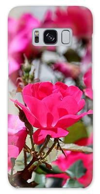 Delicate Roses Galaxy Case by Cynthia Guinn