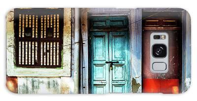 Doors Of India - Blue Door And Red Door Galaxy Case