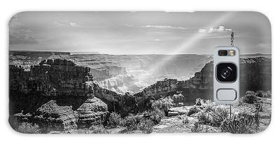 Eagle Rock, Grand Canyon In Black And White Galaxy Case