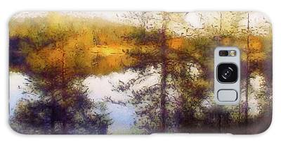 Galaxy Case featuring the mixed media Early Autumn In Finland by Susan Maxwell Schmidt