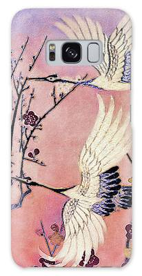 Galaxy Case featuring the tapestry - textile Flight Of The Cranes - Kimono Series by Susan Maxwell Schmidt