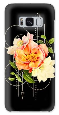 Galaxy Case featuring the digital art Floral Abstraction by Bee-Bee Deigner