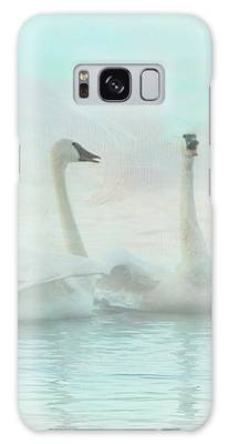 Four Swans Watercolor Group Galaxy Case by Patti Deters