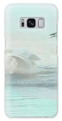 Four Swans Watercolor Group Play Galaxy Case by Patti Deters