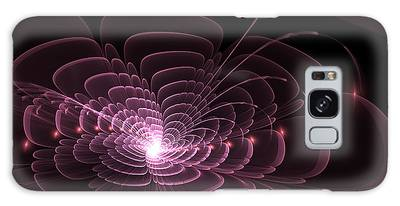Galaxy Case featuring the digital art Fractal Rose by Bee-Bee Deigner