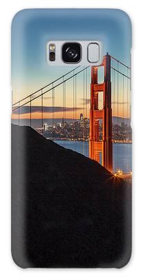 Golden Gate Christmas Glow Galaxy Case