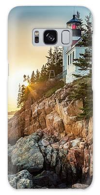 Golden Hour In Acadia Galaxy Case