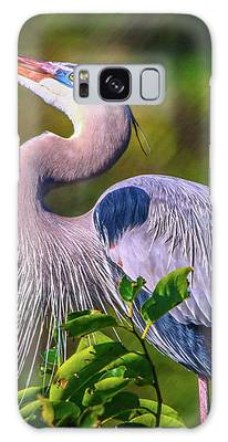 Great Blue In Mating Plumage Galaxy Case by Tom Claud