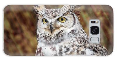 Galaxy Case featuring the photograph Great Horned Owl Portrait by Patti Deters